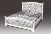 Кровать Ницца со стразами с матрасом