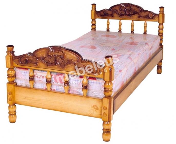 Кровать Точенка №1 с матрасом