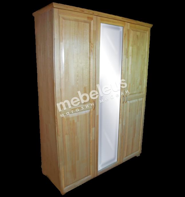 Шкаф 3-х ств. с зеркалом (распашной)