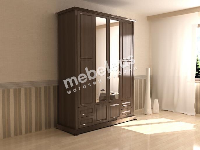 Шкаф четырехстворчатый с зеркалом