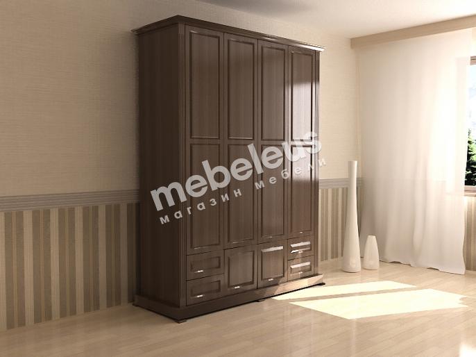 Шкаф четырехстворчатый с нижней антресолью