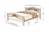 Кровать Хорт с ковкой из дуба