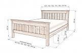 Кровать Довиль с матрасом