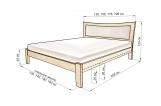 Кровать Ассизи с мягкой вставкой с матрасом