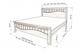 Кровать Орлеан с матрасом