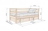 Кровать Каркасон с ящиками