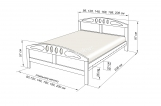 Кровать Галант (береза)