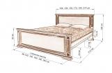 Кровать Шартр из березы с матрасом