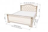Кровать Виши с матрасом