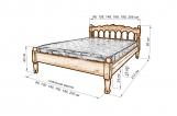 Кровать Подсолнух (резьба) с матрасом