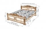 Кровать Светлана с матрасом
