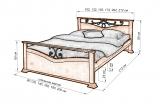 Кровать Жар-птица (ковка) с матрасом