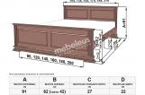 Кровать Руан с матрасом