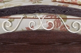Кровать Хорт с ковкой из дуба с матрасом