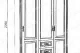 Шкаф Дарина 3-створчатый из сосны