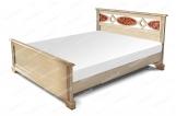 Кровать Павия из дуба с матрасом
