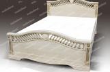 Кровать Мессина из дуба с матрасом